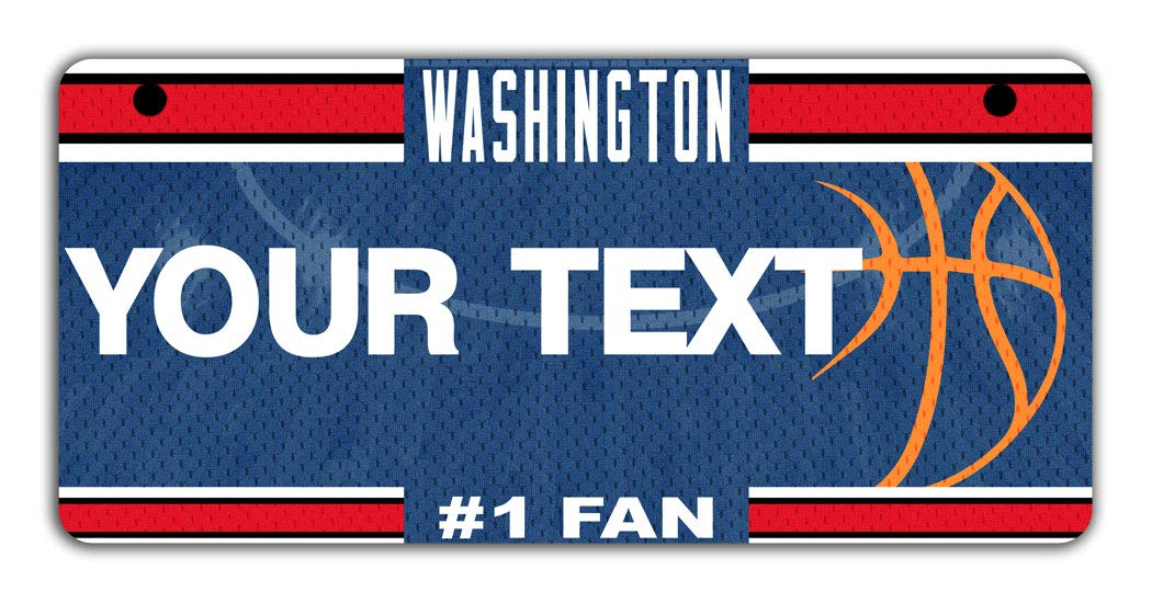 BRGiftShop Personalize Your Own Basketball Team Washington Bicycle Bike Stroller Childrens Toy Car 3x6 License Plate Tag