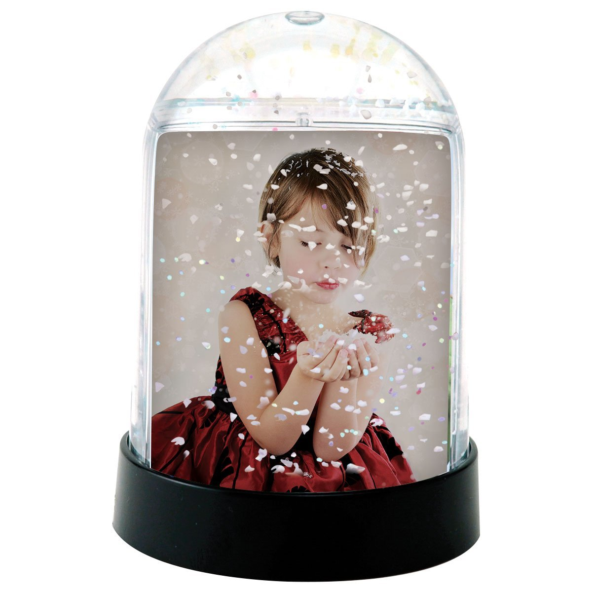 2'' x 2-7/8'' Clear Vertical Photo Snow Globes (holds two photos) - Case of 36 by Neil Enterprises
