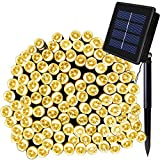 Image of Solarmks Solar String Lights Outdoor Waterproof 72 ft 200 LED Fairy String Lights, Ambiance Lighting for Garden, Patio and Holiday Decorations (Warm White)