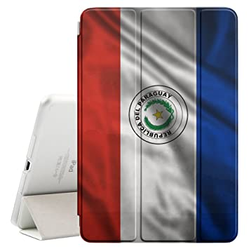 FJCases Paraguay Paraguayo Bandera Ondeante Smart Cover Funda Carcasa con Función de Soporte y Auto Sueño