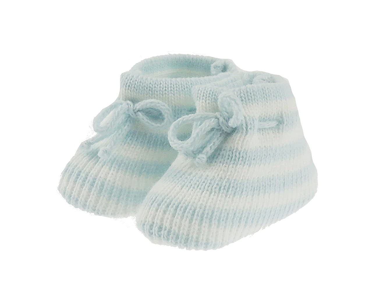 Nouveau-né Bébé Filles Garçons Chaussons en tricot à rayures Rose ou Bleu