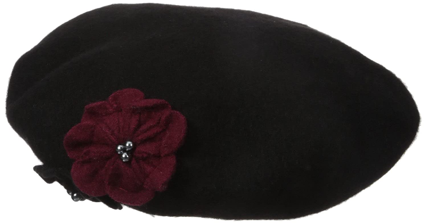 Collection XIIX Women's Flower Beret Black One Size Collection XIIX Women' s Accessories HS192734
