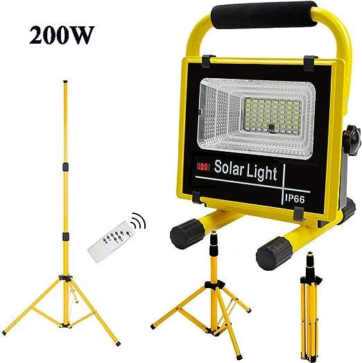 Foco LED Portátil, Luz de Trabajo con Tripode 200W 56 Leds, Foco ...