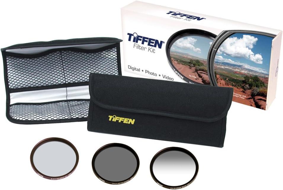 Neutral Density 0.6 Tiffen 58mm DV Select Filter Kit 3 Ultra Circular Polarizing and Black Promist 1//4 Filters
