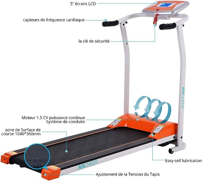 Ancheer eléctrico plegable cinta de correr, 502 Fácil Asamblea ...