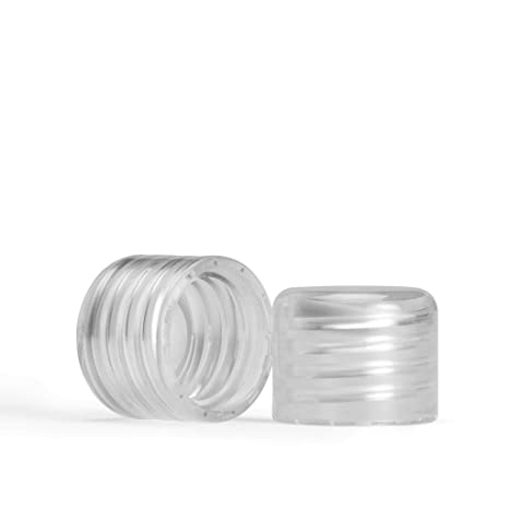 memobottle – botella de agua reutilizable delgado – fabricado en plástico reciclado sin BPA – 750 ml/375ml- Memo botella, Clear plastic lid pack (2 x ...
