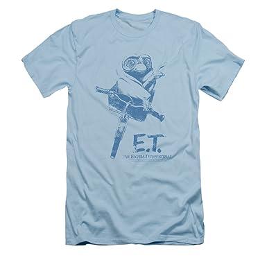 Et bicicleta camiseta de manga corta para hombre Slim Fit: Amazon ...