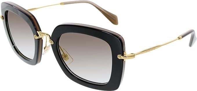 888213cda6ef Miu Miu Women's 0MU07OS KAY0A7 52 Sunglasses, Topo Black/Opal/Gray ...
