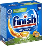 Finish Gelpacs Dishwasher Detergent, Orange Scent, 60-Count
