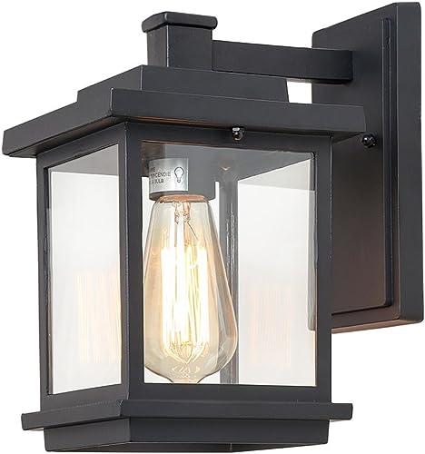 ISURAUL Outdoor Porch Light Fixture Black Exterior Wall Light