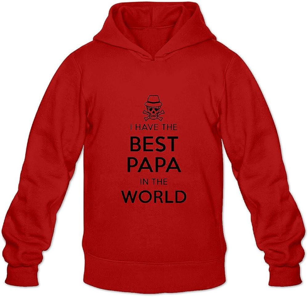 Zip Up Hoodie Worlds Greatest Papa Hooded Sweatshirt for Men