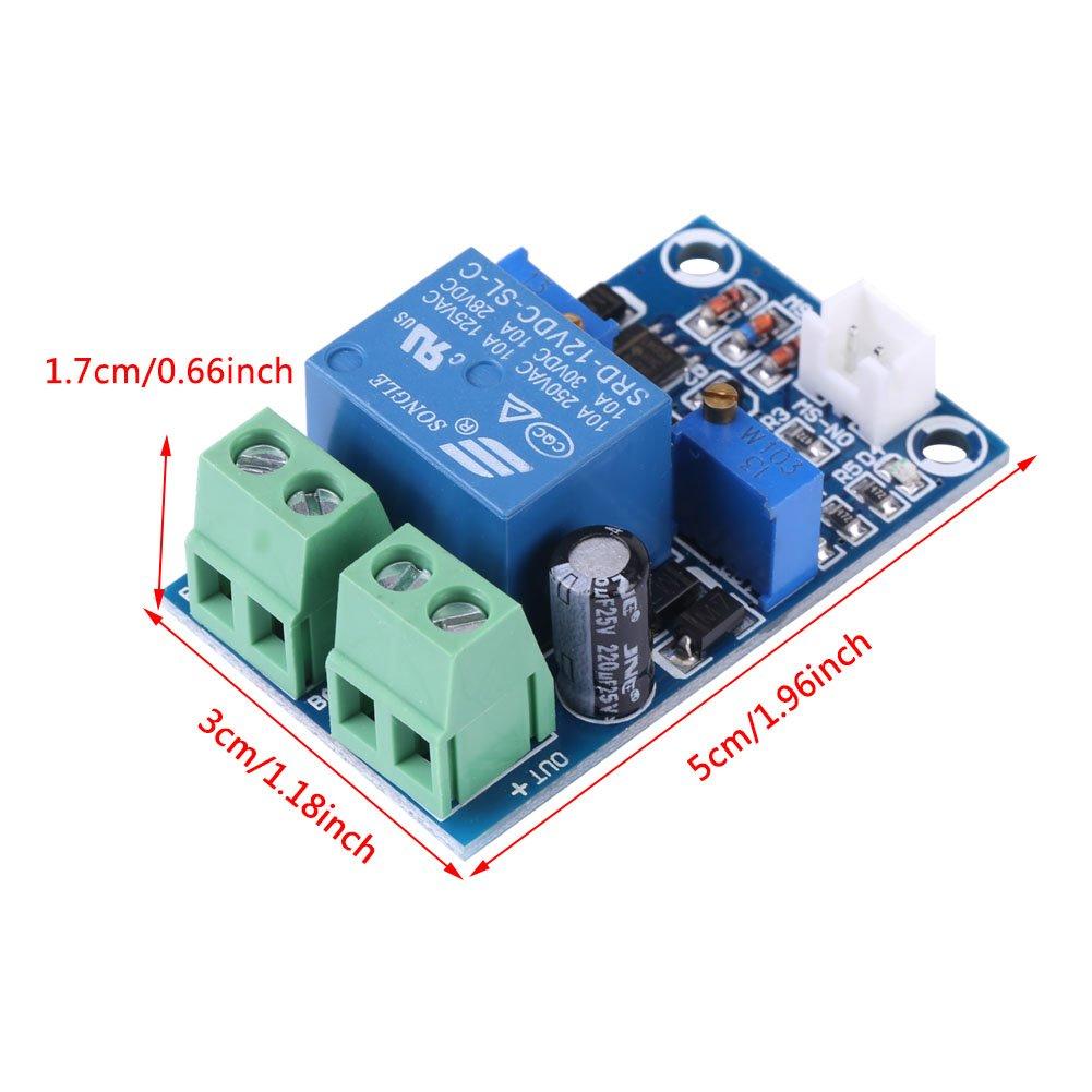 Digital Low Voltage Cut off Switch automatique panneau de protection 12V 10A Module de protection du contr/ôleur de charge de la batterie