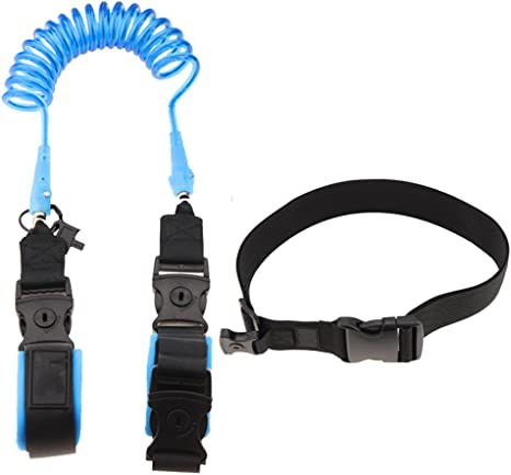 2.5meter Blue TAMUME 2-in-1 Anti-Lost Walking Belt with Optional Velcro Tape to Wrist and Waist Strape for Kid Walking Safety Harness 2.5m Child Outdoor Restraint Safety Harness Strap
