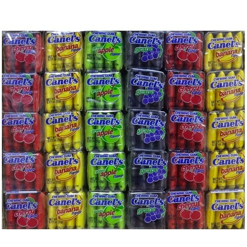 Wholesale Canels Gum 4pc Fruit 60ct (Gum Banana Strawberry)