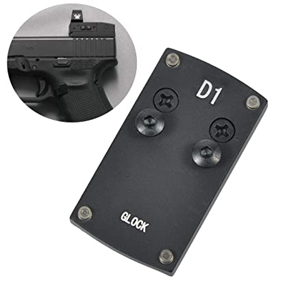 LONJN Glock 17 19 22 23 26 27 34 Mount - Vortex Venom Mount Glock Mounting  Plate, Vortex Viper Mount for Glock, Glock Mount Plate for Red Dot Burris