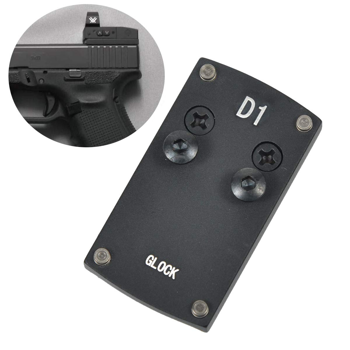LONJN Glock 17 19 22 23 26 27 34 Mount - Vortex Venom Mount Glock Mounting Plate, Vortex Viper Mount for Glock, Glock Mount Plate for Red Dot Burris Sightmark Vortex Mini Sight