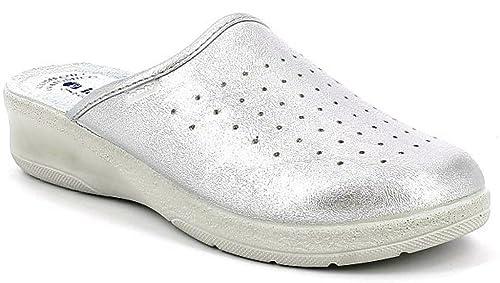 INBLU Pantofole Ciabatte SANITARIE da Donna MOD. 50-33 Argento (36) be1969f926f