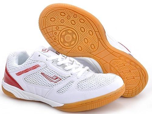 2c260d621 XPD Professional Sports Shoes - Zapatillas de Tenis de Mesa de Material  Sintético para Hombre Blanco Blanco Rojo  Amazon.es  Zapatos y complementos