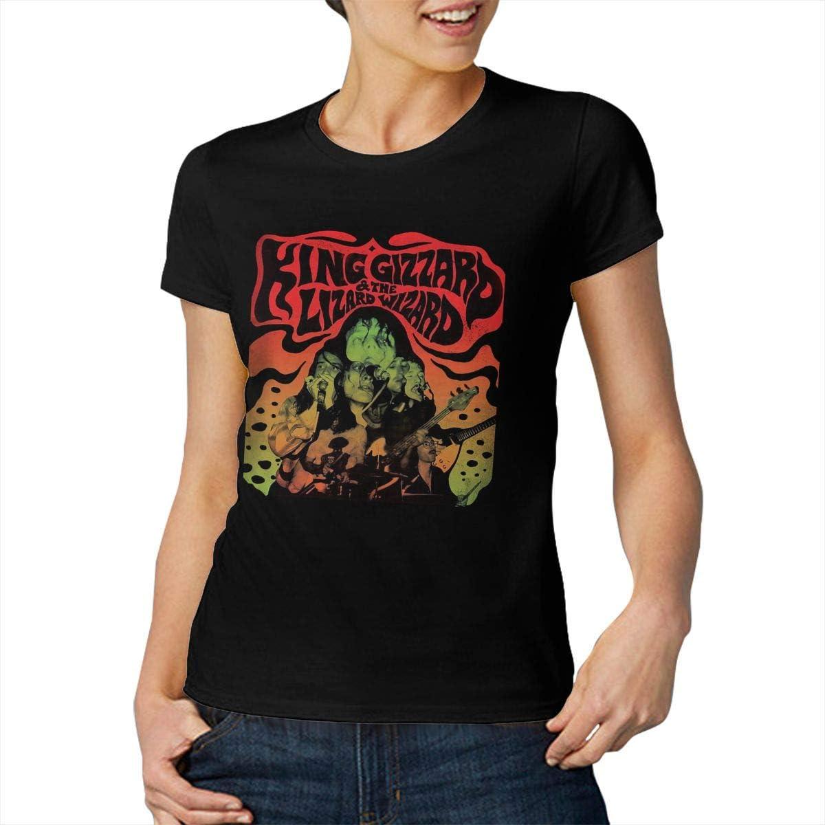King Gizzard and Lizard Wizard T Shirt Shirts Women Summer Short Sleeve Round Neck Tops Novelty Tee