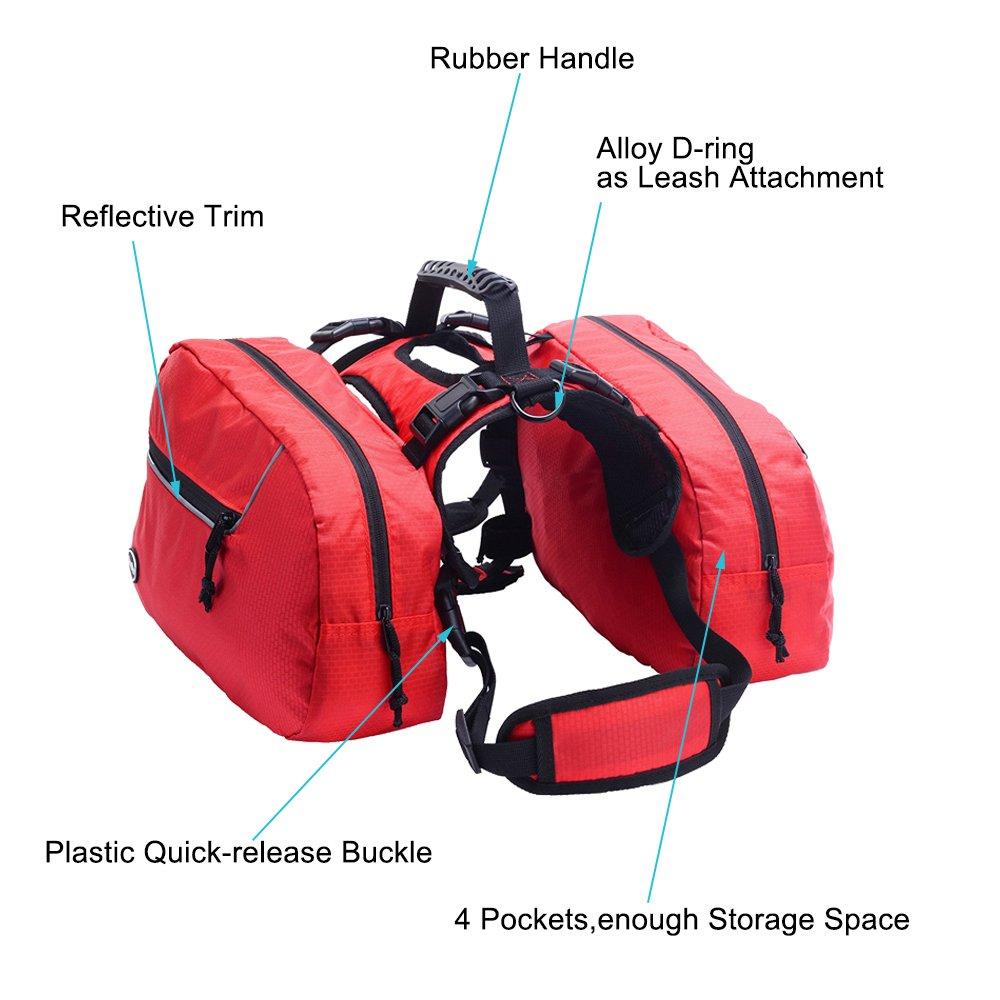 BINGPET Dog Harness Backpack Doggie Saddlebags by BINGPET (Image #3)