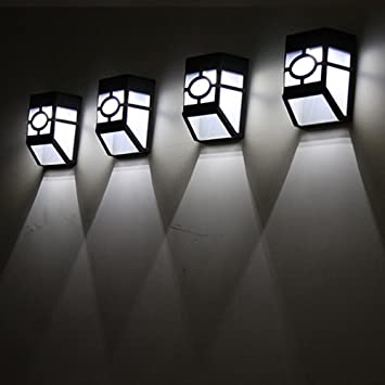 Solar LED Licht Hirolan Sicherheit Beleuchtung Draussen Garten Mauer ...