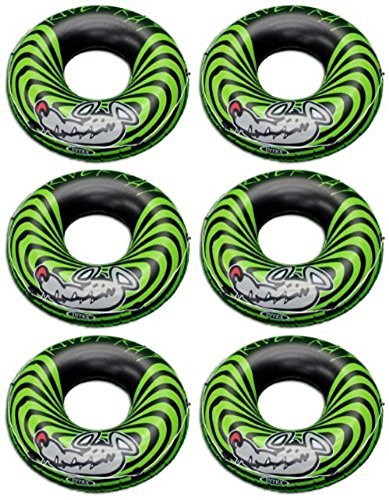 6-Pack Intex River Rat 48-Inch Inflatable Tubes For Lake/Pool/River | 6 x 68209E