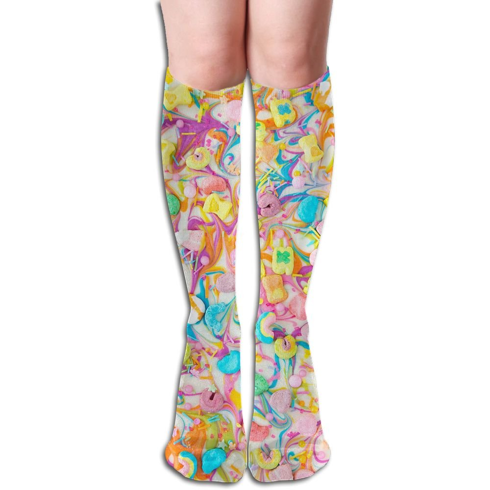 a829709e7 Unisex Knee High Long Socks Lucky Charms Chocolate Over Calf Casual Sport  Stocking Cotton at Amazon Women s Clothing store