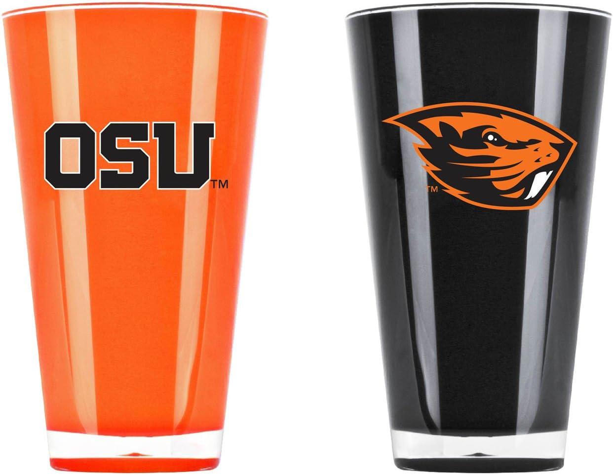 NCAA Oregon State Beavers 20oz Insulated Acrylic Tumbler Set of 2