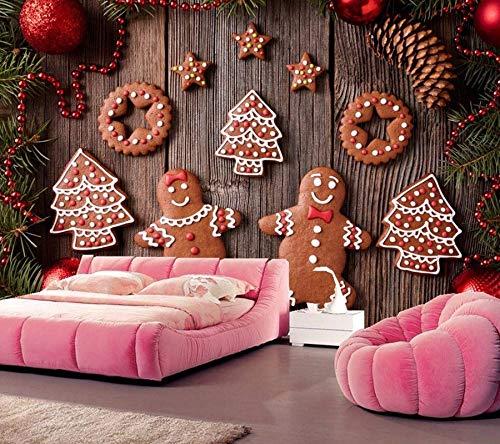 400 Christmas Cookie - Yosot Custom 3D Murals Christmas Cookies Wallpapers Living Room Sofa Tv Wall Bedroom 3D Wallpaper-400Cmx280Cm