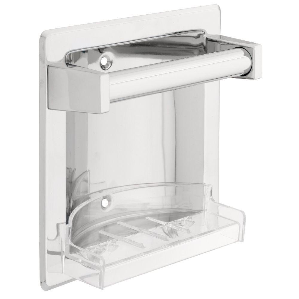 Franklin Brass D2498PC Futura, Bath Hardware Accessory, Recessed Soap Dish with Bar--Chrome finish