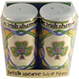 Irish Salt and Pepper Shaker Celtic Design Shamrock