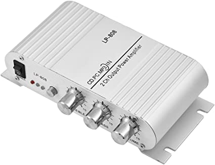 2 Channel Stereo 20 Watt Mini Car Home Amp Audio PA Power Amplifier 3.5mm /& RCA