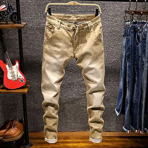 Trousers Jeans Da Sonnena Stretti Uomo Cotone Casual Denim Vintage Inverno In Retro Lavati Hop Hip Autunno Lavoro Pantaloni Cachi E 6RF6q41