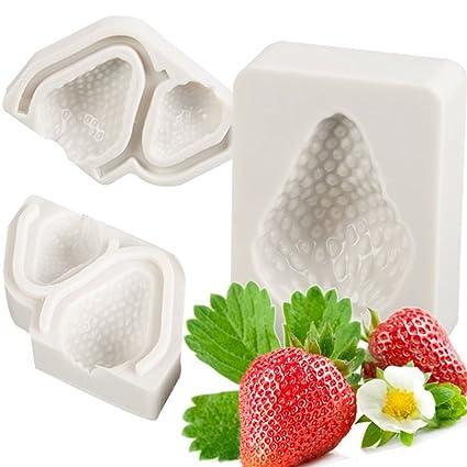 Tofree Molde de Silicona para Hornear Frutas, Imitación de Chocolate, Pasteles, Fresas y