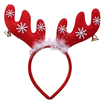 Amazon.com   Qupida Christmas Headbands Headbands Headwear Hair Accessories  For Adults And Children Dresses Red Gift Wholesale (Red)   Beauty ab09e36bbab
