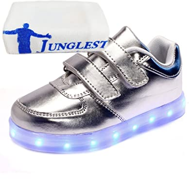 (Present:kleines Handtuch)Weiß EU 29, Freizeitschuhe schuhe Mädchen Leucht Junge Winter Aufladen Kinderschuhe mode JUNGLEST® Unisex USB 7 und Leuchtend Schuhe Farbe