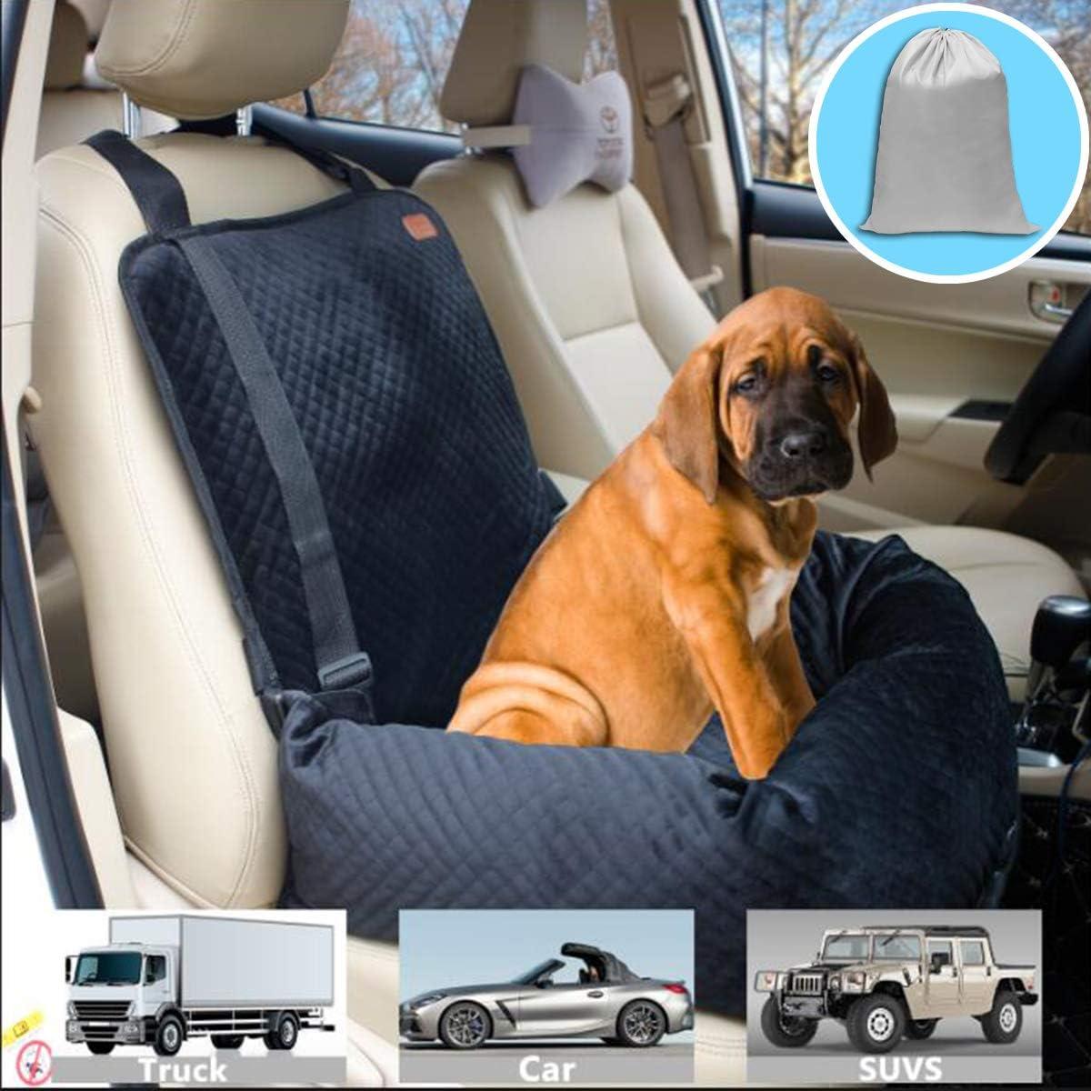 Zeexipdr Haustier Auto Transportbox Für Kleine Mittelgroße Und Große Hunde Katzen Welpen Mit Rutschfester Unterseite Und Waschbarem Bezug Schwarz Haustier