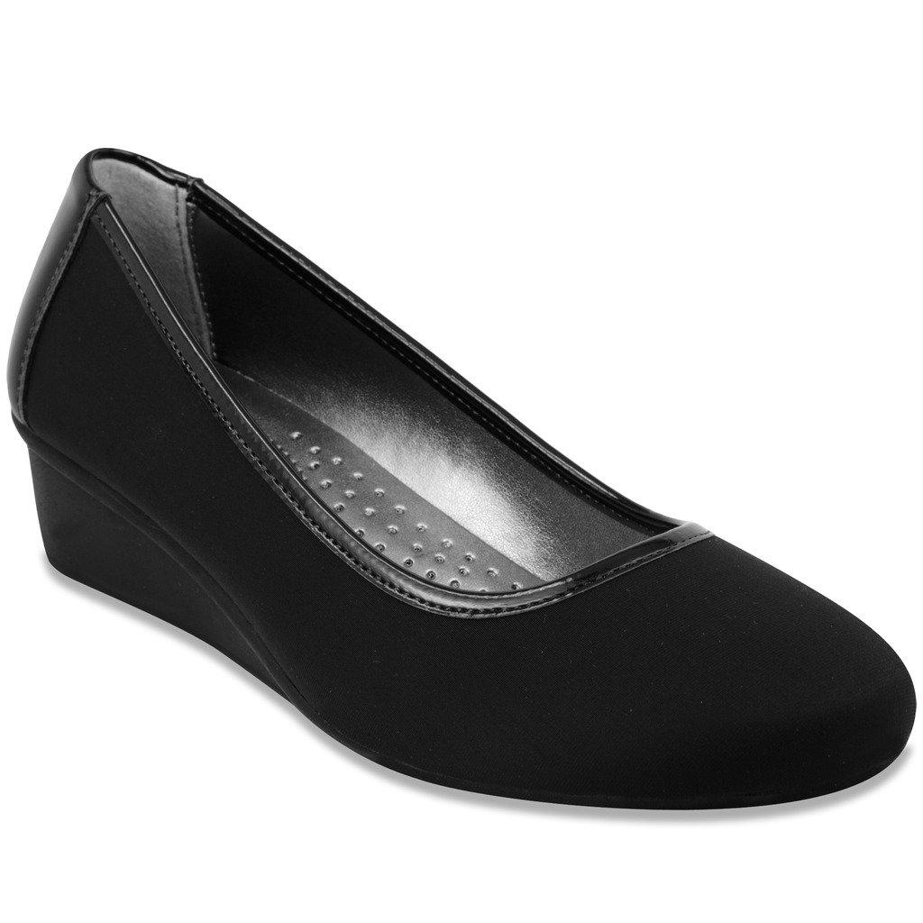 London Fog Chester Dress Shoe Black/Neoprene 8.5