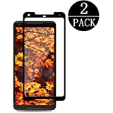 (Black) - Google Pixel 2 XL Screen Protector,EcoPestuGo - [Scratch-Prevention][Case Friendly] [Easy Application] Anti-Bubble Tempered Glass Screen Protector for Google Pixel 2 XL [2 Pack]