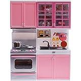 風の翼 @家の子供たちに適用すると、光とセットプレーのキッチンをふり、音楽やアクセサリー(のL * H *のW = 24 32 7.6CM)(ピンク)と ピンク