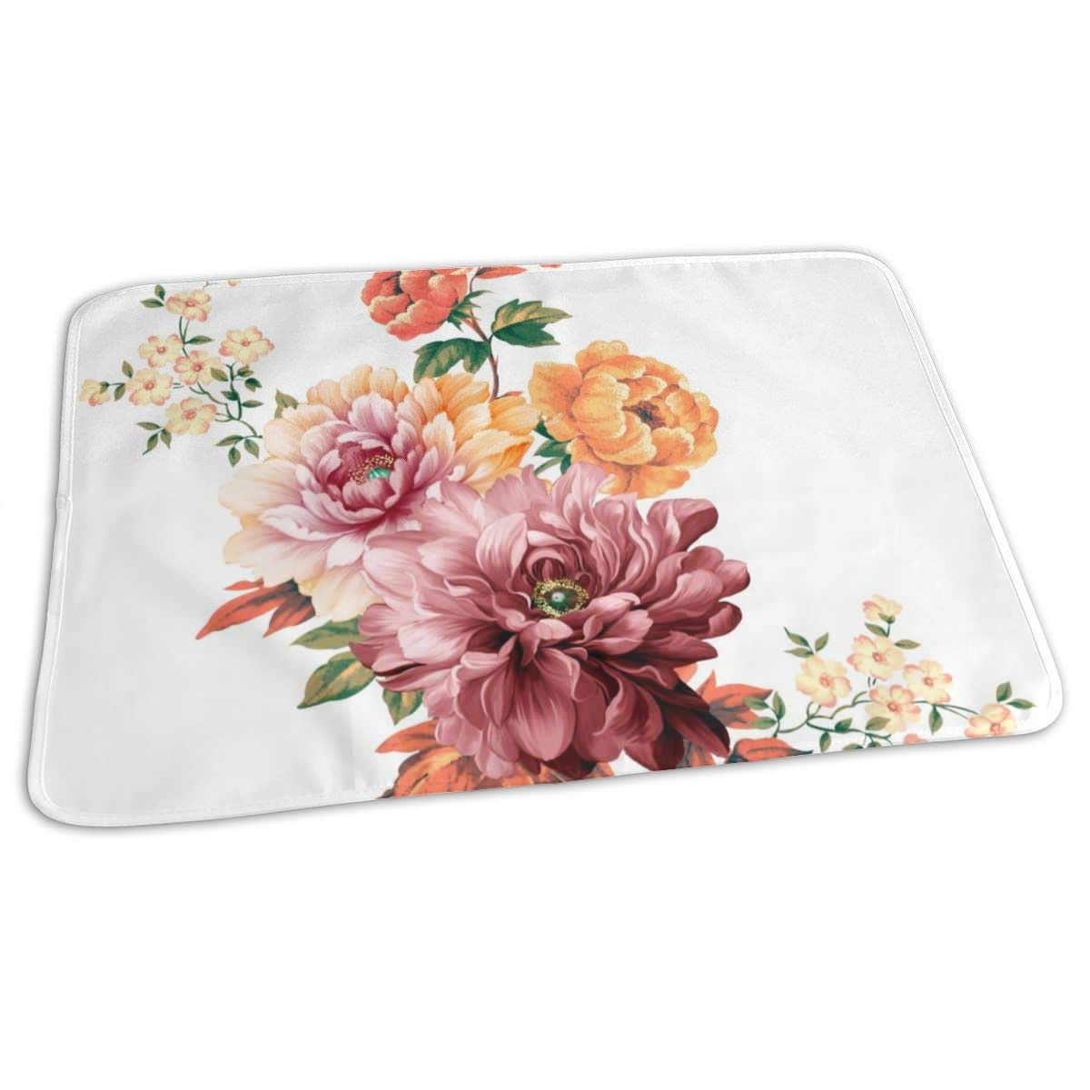 Osvbs Lovely Baby Reusable Waterproof Portable Flowers are Full of Romance Changing Pad Home Travel 27.5''x19.7'' by Osvbs