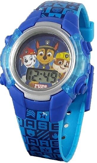 Paw Patrol - Reloj Digital con luz Azul para niño: Amazon.es ...
