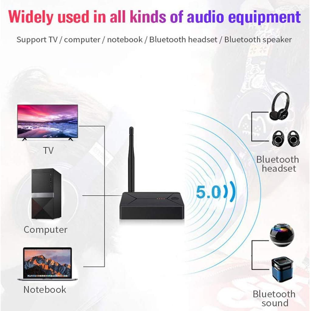 3 in 1 Wireless Long Range 3.5mm Aux Coaxial Optical Fiber Adapter Transmitter for TV Home Stereo PC IPOTCH Bluetooth Transmitter Receiver Low Latency