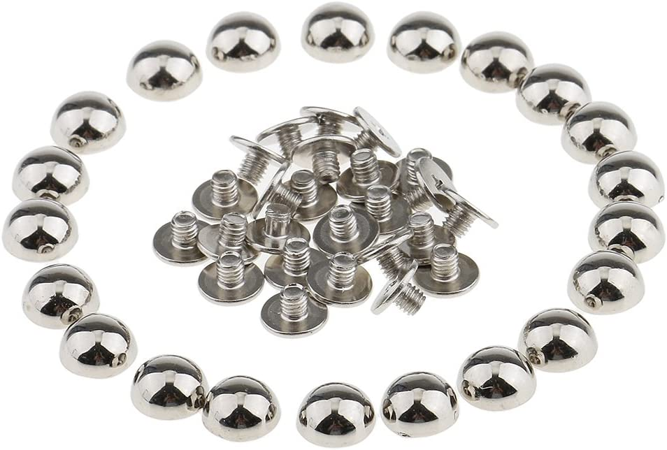20pcs 10mm Silver Mushroom Spike Studs Rivets Bag Shoes Belt DIY Punk Style HOT