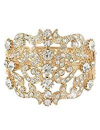 Ever Faith Wedding Royal Pattern Bracelet Bangle Clear Austrian Crystal