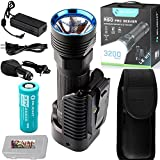 LE Kit: Olight R50 PRO Seeker LE, Law Enforcement Kit, 3200 Lumens Military Grade Police Tactical Rechargeable LED Flashlight Searchlight with 26650 Battery, Holster, Charging Dock and LegionArms case
