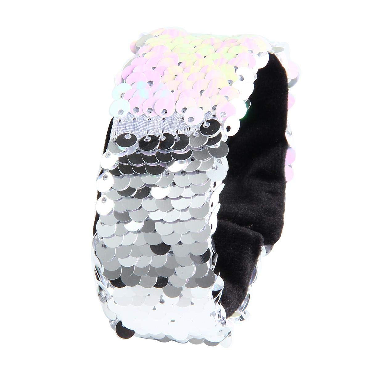 2019 Fashion New Fashion Mermaid Sequined Bracelet Cool Party Wristband Two-color Reversible Charm Sequins Flip Arm Warmers In Many Styles Women's Arm Warmers