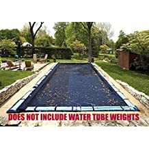25 Ft x 45 Ft Rectangle Tight Mesh In-Ground Pool Winter Cover Debris Trap Cover Arctic Armor Platinum 5 Foot Overlap 8 Year