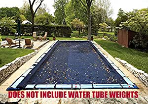 24' x 44' Rectangle Tight Mesh In-Ground Pool Winter Cover Debris Screen Trap Ultra Armor Maxx 4 Foot Overlap 8 Year Warranty