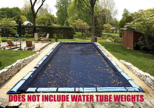 Ultra Armor Maxx Mesh - 12 Ft x 24 Ft Rectangle Tight Mesh In-Ground Pool Winter Cover Debris Screen Trap Ultra Armor Maxx 4 Foot Overlap 8 Year Warranty